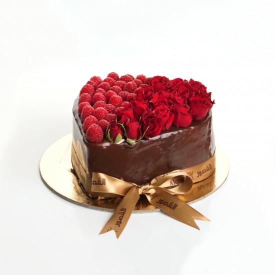 كيكة يوم الحب ( الورد)